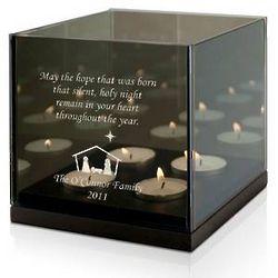 Family Nativity Quad Tea Light Candle Holder