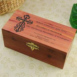 Cedar Keepsake Box with Lock and Key