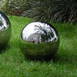 "Stainless Steel 10"" Gazing Ball"
