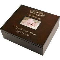 Holy Cross Christening Keepsake Box