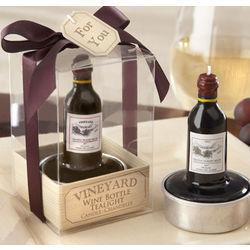 Vineyard Wine Bottle Tea Light Favors