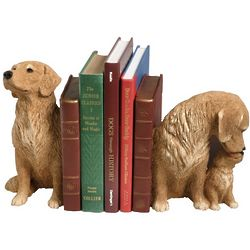 Sandicast Golden Retriever Bookends