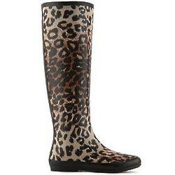 Raindrop Leopard Rain Boot