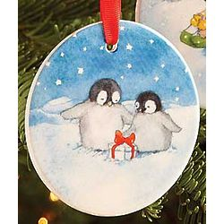 Two Cute Porcelain Ornament
