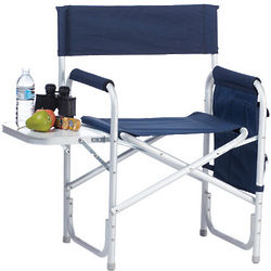Director's Sport Chair with Side Table & Side Panel Pockets