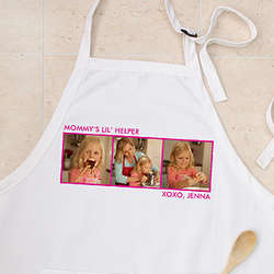 3 Pictures Personalized Photo Apron