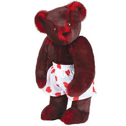 Smoldering Red Heart Throb Teddy Bear