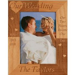 Wooden Personalized Wedding Frame