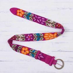 Huantla Bouquet Wool Belt