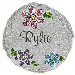 Personalized Mom's Mosaic Garden Stepping Stone