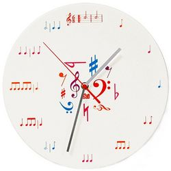 Keep on Time Music Notes Wall Clock