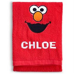 Personalized Sesame Street Elmo Bath Towel