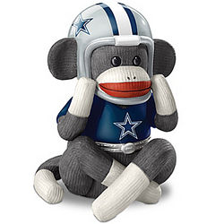 Dallas Cowboys Sock Monkey Music Box