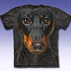 Dachshund Oversized Dog Face Shirt