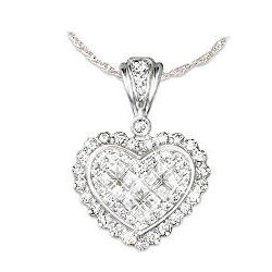 Perfect Bride Heart Pendant Necklace