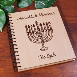 Hanukkah Memories Personalized Wood Photo Album