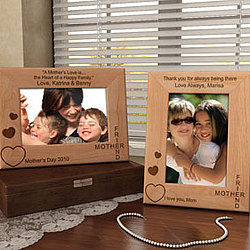Personalized Mother and Friend Wooden Picture Frame