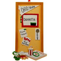 Personalized Dorm Door College Ornament