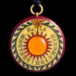 Saturn Sundial Pendant