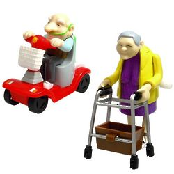Wind-Up Racing Granny & Grandad Toys