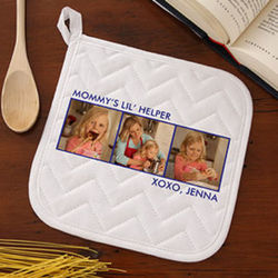 Three Pictures Personalized Potholder
