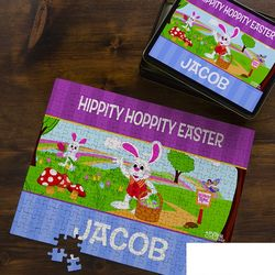 252-Piece Peter Cottontail Personalized Easter Jigsaw Puzzle
