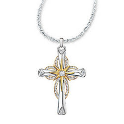Thomas Kinkade Reflections of Faith Cross Pendant