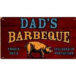 Personalized Smokin' Hot BBQ Metal Sign
