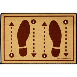 Foot Instructions Doormat