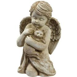 Cat Memorial with Cherub Angel