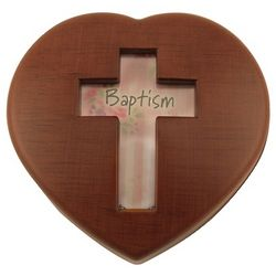 Boy's Baptism Heart Music Box
