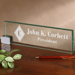 Glass name plate ideas