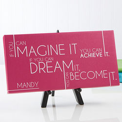 Inspiring Messages Personalized Canvas Print