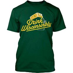 Men's Drink Wisconsinbly Cheesehead T-Shirt
