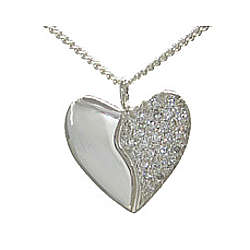 Silver Anniversary Harmony Heart with 25 Pave Set Diamonds