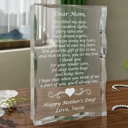 Personalized Mom Poem Keepsake