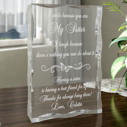 Personalized I Smile Because You Are Special Plaque