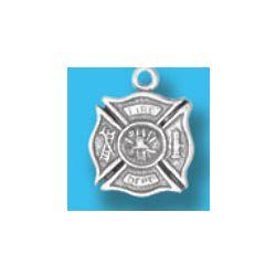 Fireman's Cross Silver Charm