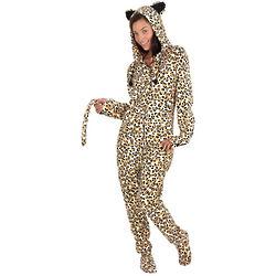 Wild Style Leopard Hoodie-Footie for Women