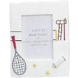 Hand Painted Tennis Picture Frame