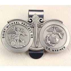 U.S. Marines St. Michael Visor Clip