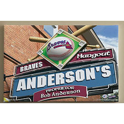 Atlanta Braves 16x24 MLB Baseball Personalized Pub Sign Print