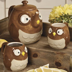 Owl Teapot and Cups
