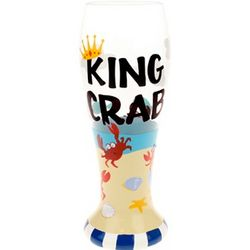 Personalized Handpainted King Crab Pilsner