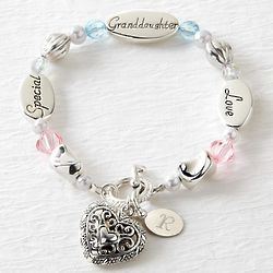 Personalized Granddaughter Sentiment Bracelet