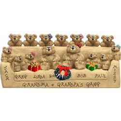 Christmas Sofa for Grandma and Grandpa's Gang of Bears