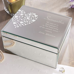 Personalized Love is Kind Mirrored Jewelry Box
