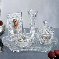Shannon 5pc Crystal Vanity Set