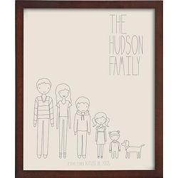 Personal Family Members Framed Art