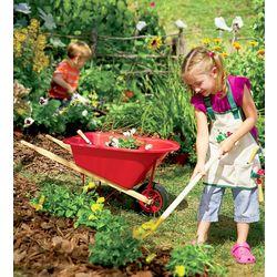 Children's Gardening Wheelbarrow and Long-Handled Tool Set